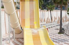Slides in aquapark Royalty Free Stock Photography