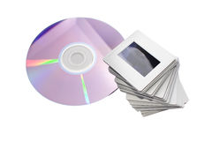 Slides and dvd: two image archiving systems Stock Image