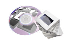 Slides and dvd: two image archiving systems royalty free stock photography