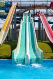Slides in the water Park. Royalty Free Stock Image