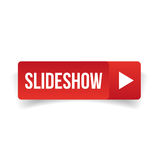 Slideshow button vector red Royalty Free Stock Photos
