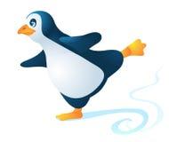 Slidind pingvin Arkivfoton