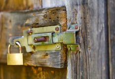 Sliding block latch Stock Photos