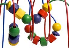 Sliding Blocks 2. A close up shot of a childs colorful sliding blocks Royalty Free Stock Image