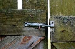 Sliding bolt lock Royalty Free Stock Images