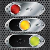 Sliding button set Stock Photography