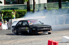 Sliding car Royalty Free Stock Images