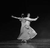 Sliding-doga waltz-the Austria's world Dance Stock Photos