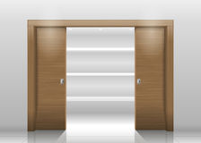 Sliding door wardrobe Royalty Free Stock Photos
