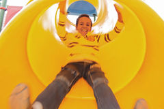 Sliding down with excitement Royalty Free Stock Photography