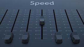 Sliding fader with speed inscription. Conceptual 4K clip ProRes stock footage