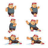 Sliding Fat Boy Animation Sprite Stock Image