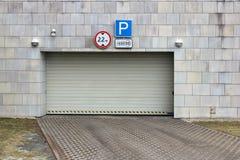 Sliding gate in parking Stock Photos