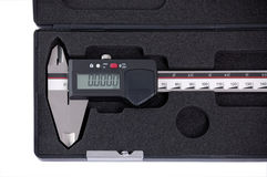 Sliding gauge in the box Stock Images