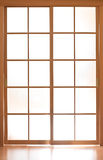 Sliding glass modern door in japan style Stock Photos