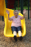 Sliding Grandmother 2 Stock Photos