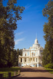 Sliding Hill pavilion in the English alley. LOMONOSOV, RUSSIA - AUGUST 20, 2014: Sliding Hill pavilion in the English alley in the Palace and Park ensemble of Stock Photos
