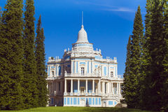 Sliding Hill pavilion in the English alley. LOMONOSOV, RUSSIA - AUGUST 20, 2014: Sliding Hill pavilion in the English alley in the Palace and Park ensemble of Royalty Free Stock Image