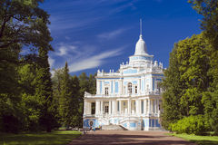 Sliding Hill pavilion in the English alley. LOMONOSOV, RUSSIA - AUGUST 20, 2014: Sliding Hill pavilion in the English alley in the Palace and Park ensemble of Royalty Free Stock Photos