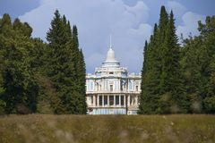 Sliding Hill Pavilion in a park of Oranienbaum, Russia royalty free stock photo