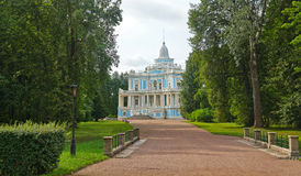 Sliding Hill Pavilion in a park of Oranienbaum Royalty Free Stock Images