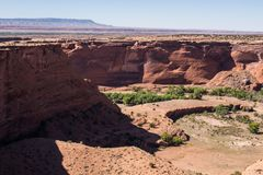 Sliding House Ruins, Canyon De Shelly Pueblo, Arizona stock photo