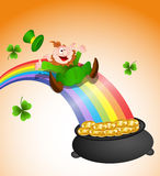 Sliding Leprechaun Stock Photos