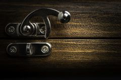A Sliding Metal Lock Latch stock images