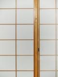 Sliding paper door Stock Image