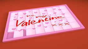Sliding puzzle Be My Valentine Stock Images