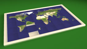 Sliding puzzle Planet Earth Stock Photography