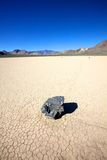 Sliding Rock on Dry Lake Bed Royalty Free Stock Photos