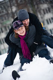 Sliding of the sled Stock Photography