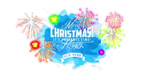 Cheerful merry christmas and happy new year design