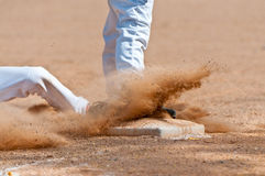 Sliding into Third Base Royalty Free Stock Photography