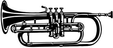 Sliding Trombone musical instrument Vector Clipart Stock Images