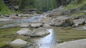 Mountain river in canyon stock video footage