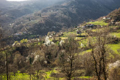 Sliding village Ropoto after a landslide in Greece Royalty Free Stock Photography