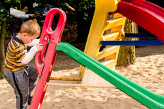 Slidse at playground Royalty Free Stock Photography