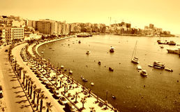 Sliema. Panorama of the seafront of Sliema Royalty Free Stock Photo
