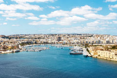 Sliema azure harbour with yachts, Malta. EU Royalty Free Stock Photography