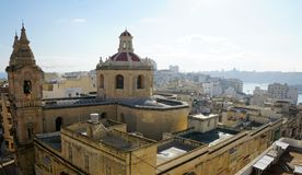 Sliema city at malta island. Old sliema city at malta island Royalty Free Stock Photo