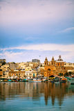 Sliema coastline. And blue sky Stock Photography
