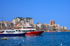 Malta - Panorama of Sliema. Modern architecture of a pleasant seaside resort - Sliema, Malta Royalty Free Stock Images