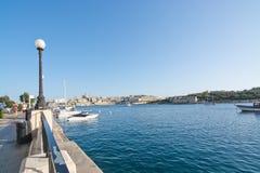 Sliema Ferries. SLIEMA, MALTA - SEPTEMBER 15, 2015: Sliema Ferries terminal and empty water on a sunny afternoon on September 15, 2015 in Sliema, Malta Stock Photo