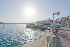 Sliema Ferries. SLIEMA, MALTA - SEPTEMBER 15, 2015: Tour boats in the Sliema Ferries terminal on a sunny afternoon on September 15, 2015 in Sliema, Malta Royalty Free Stock Photo