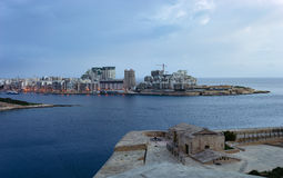 Sliema linia horyzontu, Malta Obrazy Stock
