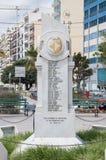 Sliema Malta - Maj 9, 2017: Monument som är hängiven till de Sliema krigdödaen av 1939 - 1945 Arkivbild