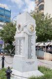 Sliema Malta - Maj 9, 2017: Monument som är hängiven till de Sliema krigdödaen av 1939 - 1945 Royaltyfria Bilder
