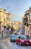 Sliema, Malta old city central street at sunny day Stock Photo